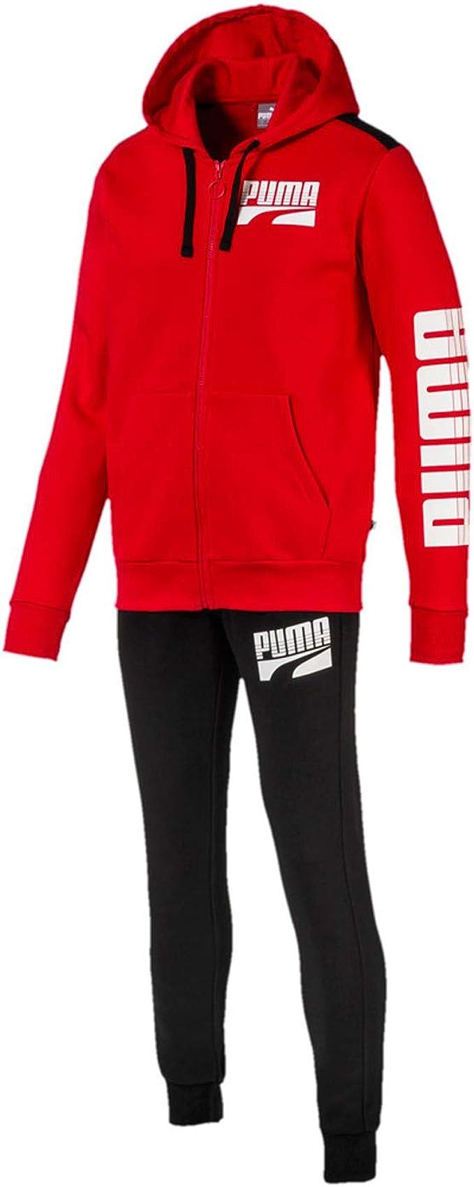PUMA 580491-11 Suit Men - Chándal para Hombre, Color Rojo ...