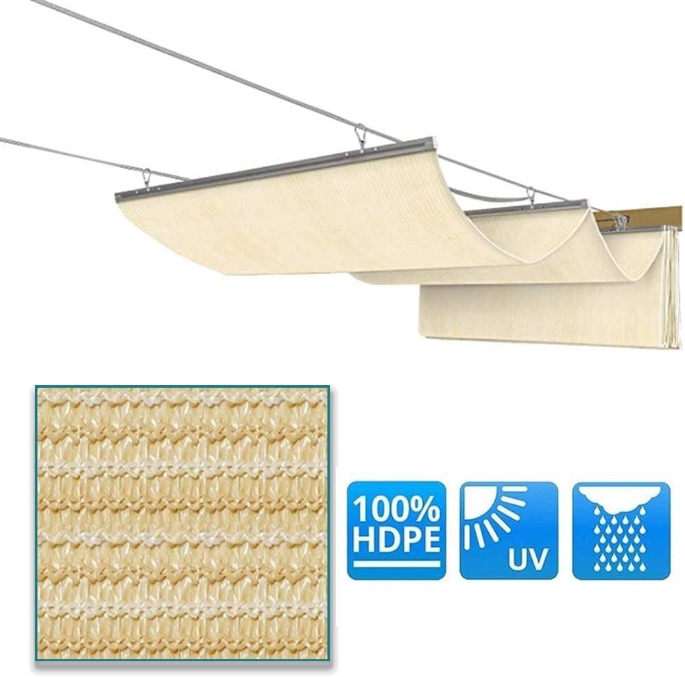 Cubierta De Sombra Extensible, Pérgola Telescópica, Sombras Dinámicas Al Aire Libre, HDPE 180GSM Filtrar Ligero Enfriador Pluma De Aleación De Aluminio para Terrazas, Patio
