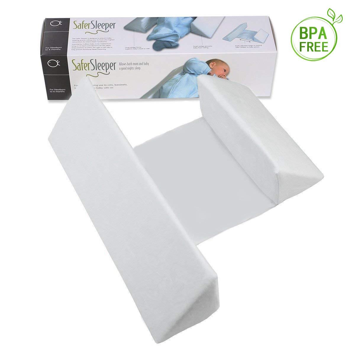 LANREN Newborns Infant Baby Sleep Pillow, Comfortable & Washable (White)