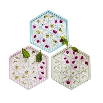 Wagsiyi Molde de Helado Hexagonal Hexagonal Helado Cubo de Hielo Molde Heladera Caja de Hielo Inicio