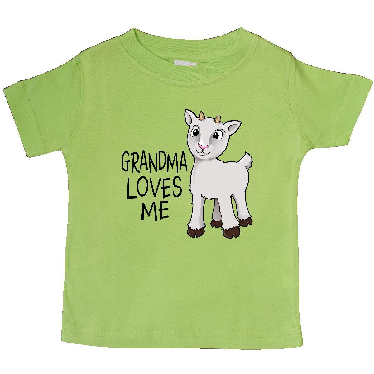 Cute Goat Baby T-Shirt inktastic Grandma Loves Me