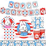 Max and Ruby Birthday Party Supplies (Standard Pack) Dinner Plates, Dessert Plates, Cups, Napkins, Banner, Table Cover
