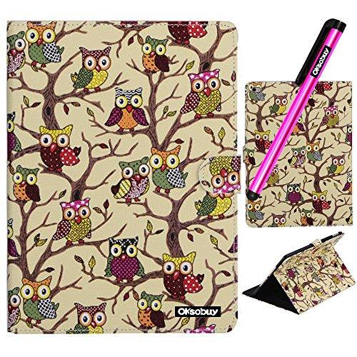 iPad Air 2 Case,OkSoBuy Leather Case Flip 360 Rotating kickStand Cute OWL Case for iPad Air 2(iPad 6) Case(Khaki Cute OWL)