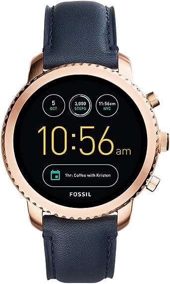 Fossil Reloj de Digital con Correa en Cuero FTW4002: Amazon.es ...