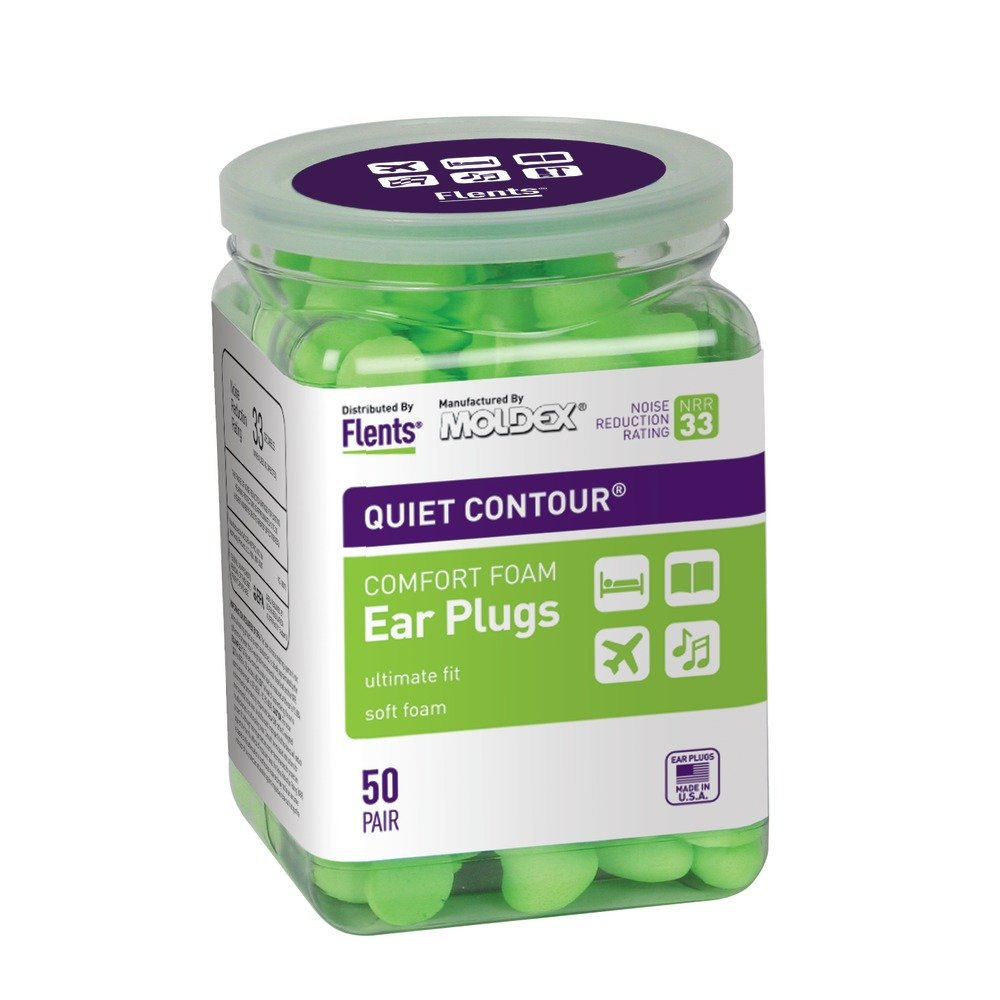 Flents Quiet Contour Ear Plugs 50 pair (case of 12)