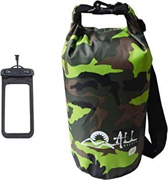 75L Waterproof Roll Top Compression Bag Dry Sack for Camping Floating Black