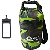 ALLBEYOND 210T 10L/20L Polyester PVC Waterproof Dry Bag Roll Top Sack Keeps Gear Dry for Kayaking/Camping/Fishing/Snowboarding/Canoeing/Hiking with Waterproof Phone Case