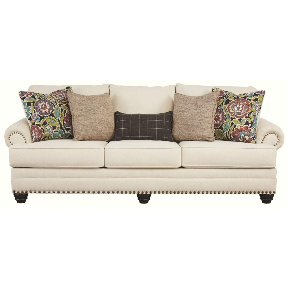 Signature Design by Ashley - Harrietson Modern Memory Foam Queen Sofa Sleeper, Shell