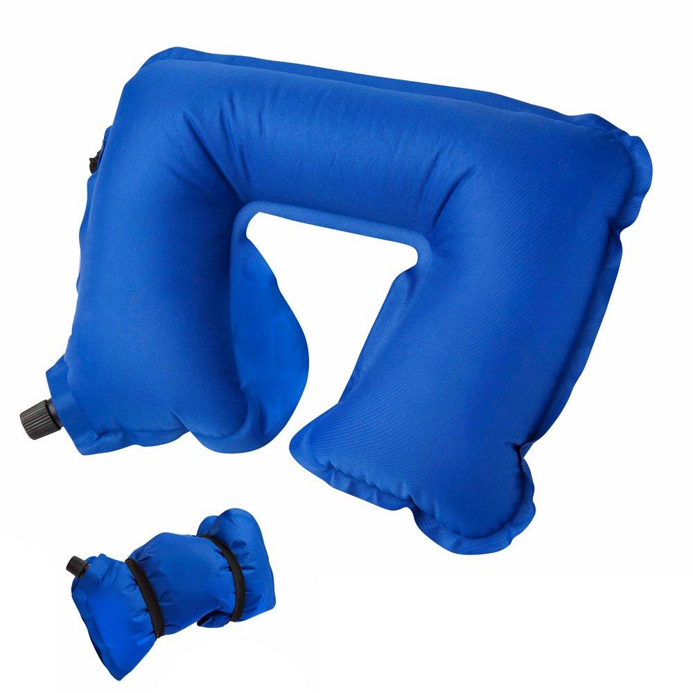 In Flight Mind調節可能なデフクラブパッド首の枕旅行 ブルー  ブルー B01N2K77ZP