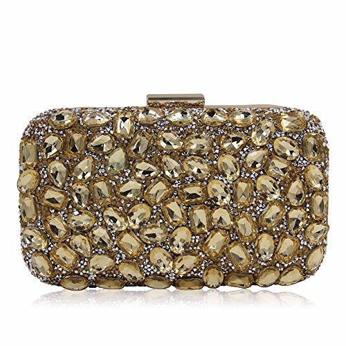Golden seora hombro de embrague de diamante Nuevo bolso noche bolso de Golden bolso de bolsa TwB4WYq6