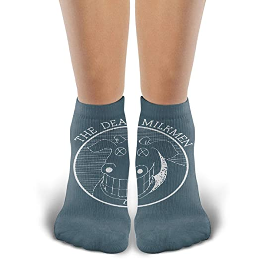 fd32354fb6d50 Amazon.com: Crew Socks Dead Milkmen - Cow Logo Cotton Sock Comfortable  Athletic Casual Sock For Men/Womens: Clothing