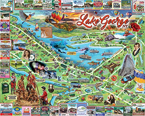 White Mountain Puzzles Lake George Jigsaw Puzzle - 1000 Piece Jigsaw ()