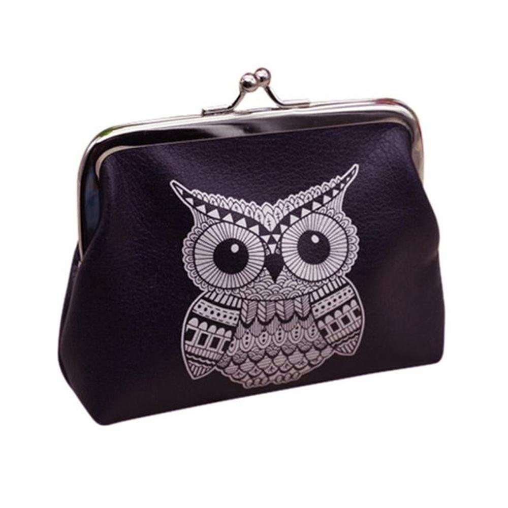 Pausseo Womens Animal Wallet Card Bag Coin Purse Clutch Handbag Shopping Packages Student Cosmetic Bag Makeup Case Portable Handbag Pen Case Pencil Bag Zipper Bag for School Supplies (B-5PCS)