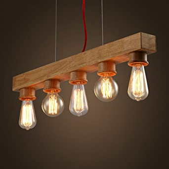 Edison native wood handmade wooden chandelier hanging led pendant edison native wood handmade wooden chandelier hanging led pendant lamp mozeypictures Images