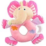 timeracing Lovely Baby Infant Kids Toys Gifts Soft Pink Elephant Plush Rattle Educational Toys