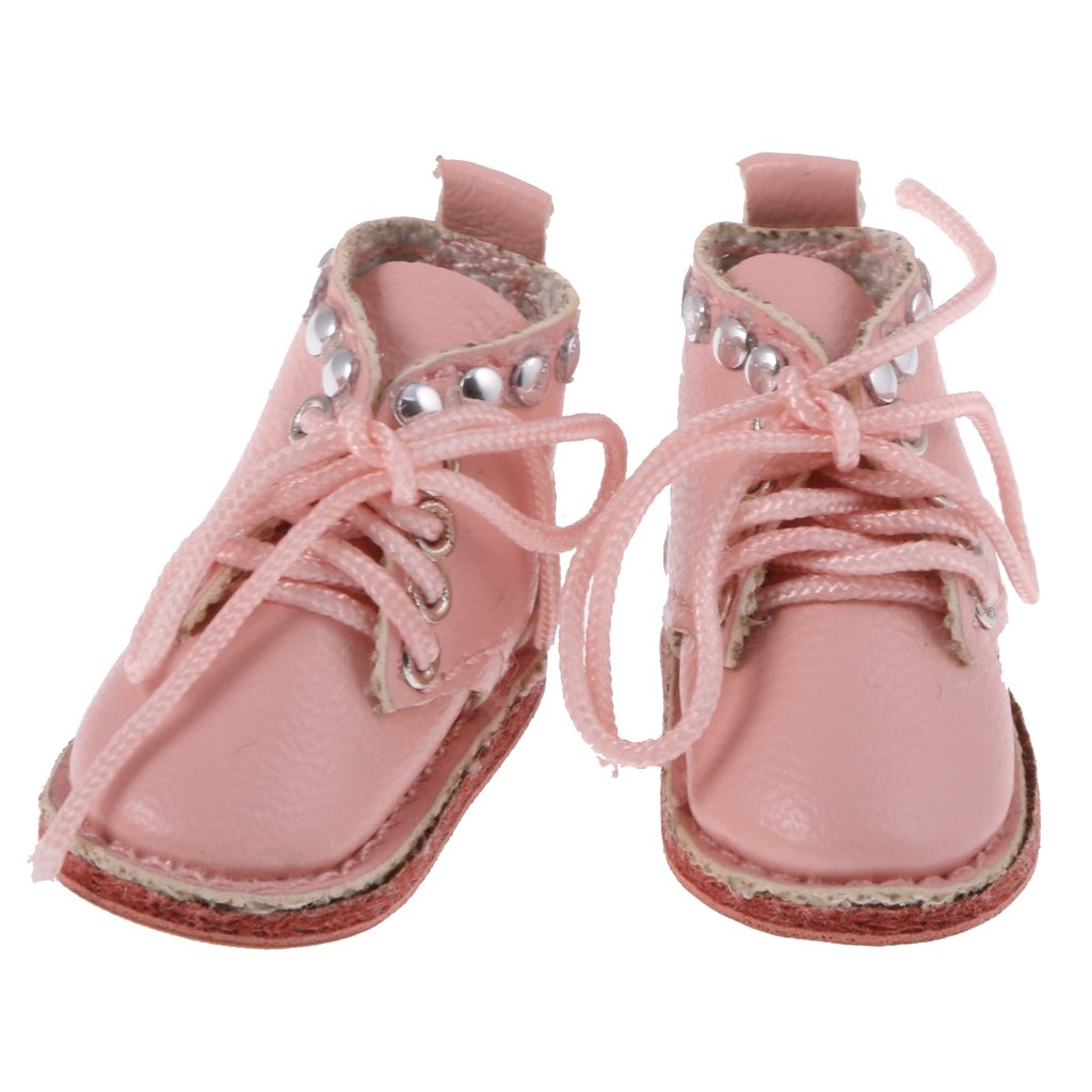 MagiDeal PU Lace up Boots Shoes for 12/'/' Blythe Doll Clothes Accessories