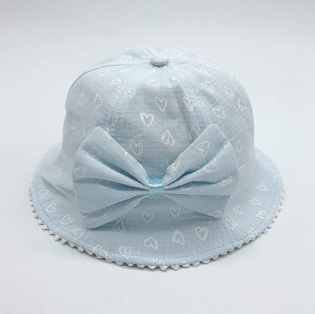 Naiflowers Bowknot Love Print Hat Baby Summer Spring Sun Hat Basin Cap Baby Fisherman Hat Beach Visor Hat Cap