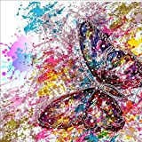 Staron DIY 5D Diamond Painting, Full Drill Butterfly Diamond Embroidery Rhinestone Painting Cross Stitch Kit Wall Art Decor 5D Diamond Painting by Number Kits Home Decor (Butterfly❤️)