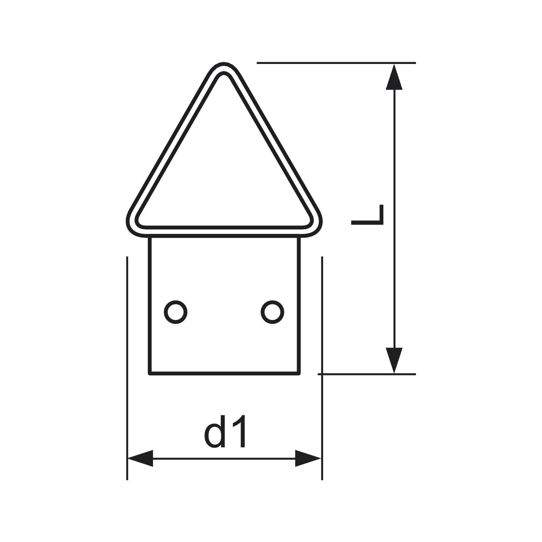 secotec Crochets Laiton 8 klapp/öse pour cadre photo 12/x 25/SB Lot de 8 465530//8/BL 1