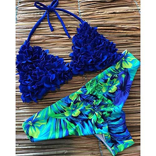 GUOQUNUP Jupe De Plage Pièces De Remorquage Bikini Set De Maillot De Bain Femme Maillot De Bain Halter Maillots De Bain plage Wear Swim Int M Lg76230B1
