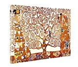 "Niwo ART (TM) - The Tree of Life, by Gustav Klimt, Oil painting Reproduction - Giclee Wall Art for Home Decor, Gallery Wrapped, Stretched, Framed Ready to Hang (30""x20""x1.5"")"