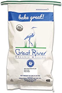 product image for Great River Organic Milling Organic Whole Wheat Bread Flour, 25-pounds (Pack of1)
