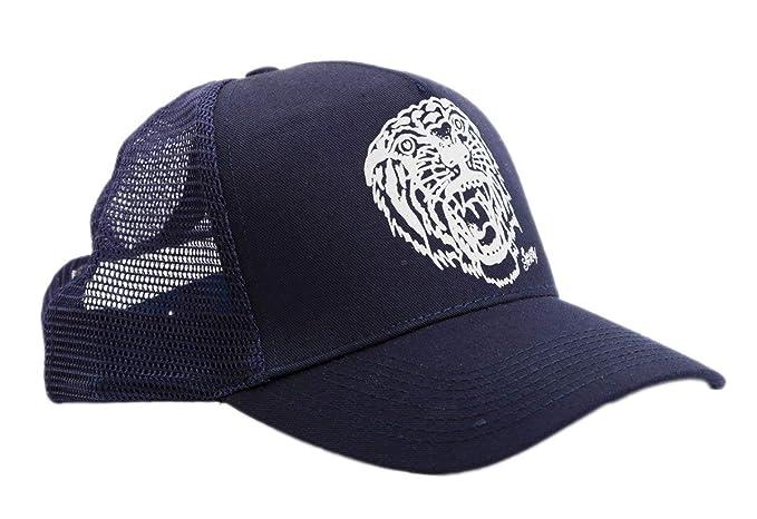 Amazon.com  Sailor Jerry Tattoo Mens Tiger Tattoo Dark Navy Snapback ... 56f38bcfe5b