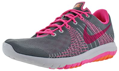 Nike Flex Fury GS  Youth Running Shoes Cool GreyPink Power Bright Citrus