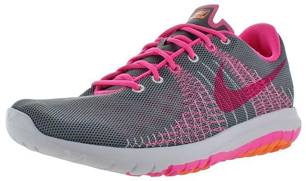 15f38b200f Amazon.com   Nike Youth Flex Fury Running Shoes-Black/Volt   Running