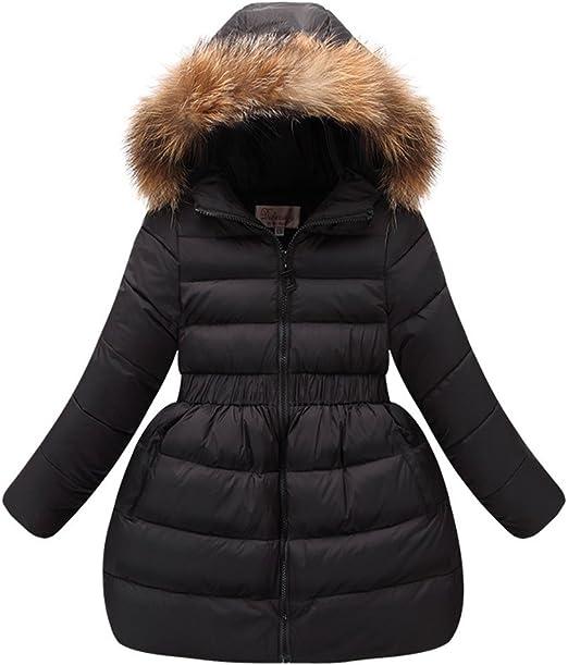 Miss Bei Girls Puffer Down Coat Winter Jacket Parka Down Coat Overcoat with Fur Hood