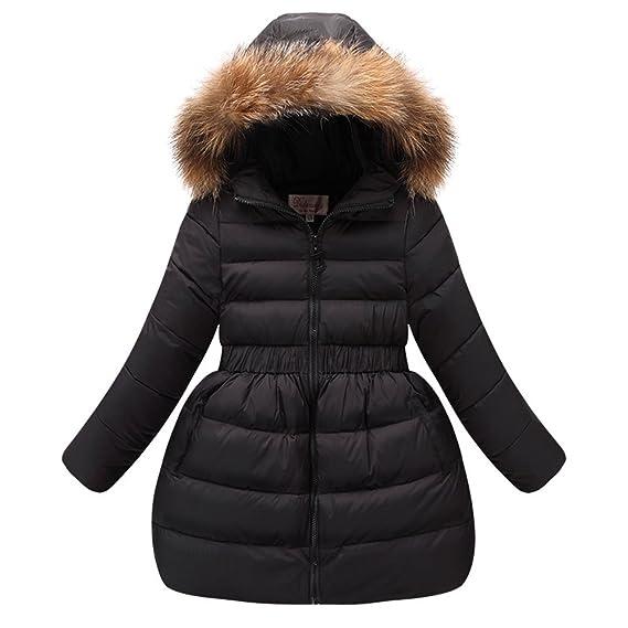 Doudoune Neige Lserver Fille Robe D'hiver Manteau Capuche Fourrure qtqfw6Pa