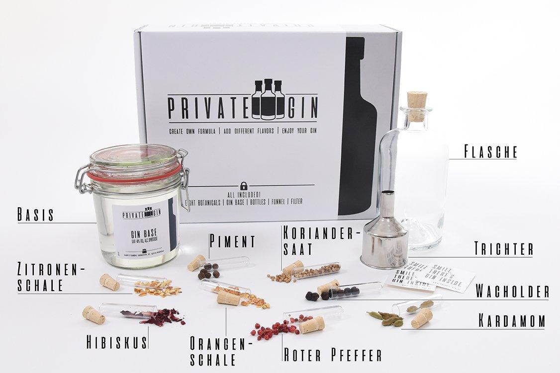 Private-Gin - Gin selbermachen - Gin Baukasten - All inclusive Set ...