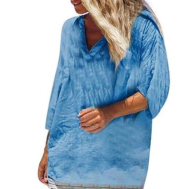 Qingsiy Blusa Mujer de Fiesta de Mujer Elegantes Camisa de Verano ...
