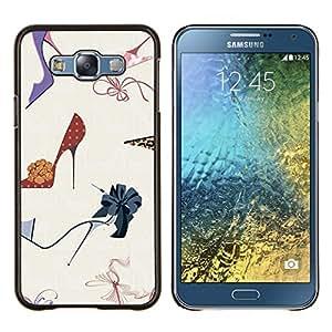 Dragon Case - FOR Samsung Galaxy E7 E7000 - stiletto fashion design shoes purple - Caja protectora de pl??stico duro de la cubierta Dise?¡Ào Slim Fit