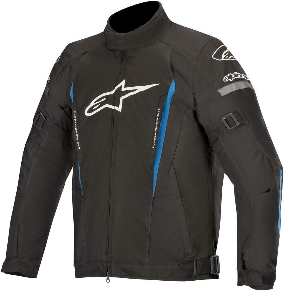 XL Negro//Azul Alpinestars Chaqueta moto Gunner V2 Wp Jacket Black Bright Blue
