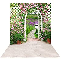 Ouyida Leading to the garden gate 10X15FT(300X450CM) Pictorial cloth Customized photography Backdrop Background studio prop GQ89