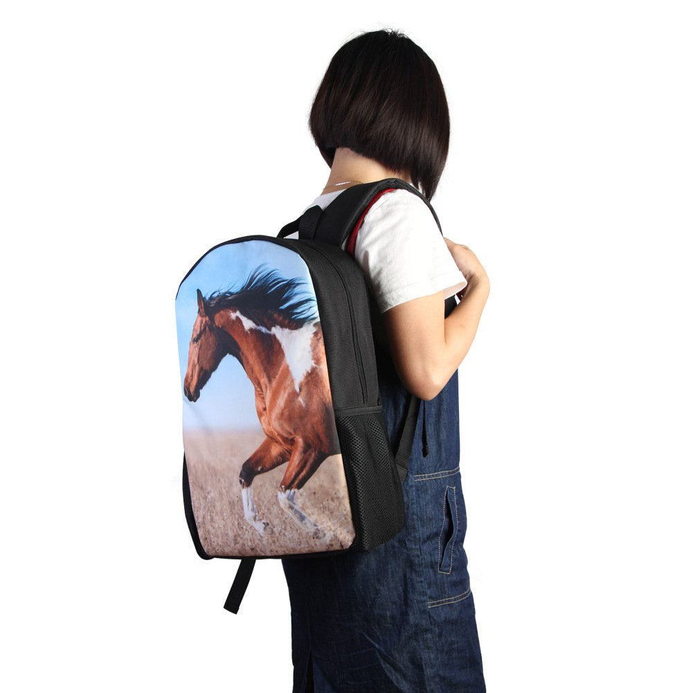 TOWIN Horse Backpack New Design Bookbag Animal Print Mochilas for Teenager CN-Scbackpacks-Horse1-1 | Kids Backpacks