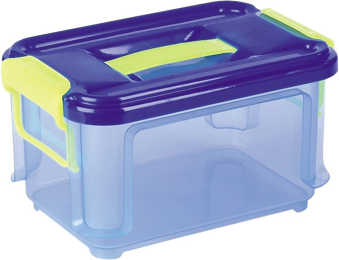 Denox Caja Clak Box Azul transparete con Tapa 3 L