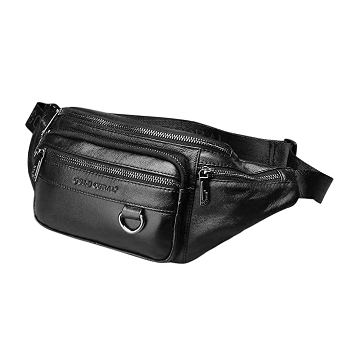 Amazon.com: Wow4pets - Bolsa de piel para hombre con cintura ...