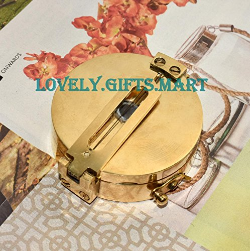 (Collectible Solid Brass Surveyor's Pocket Compass)