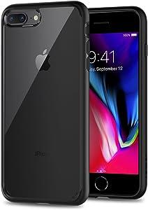 Spigen Funda Ultra Hybrid Compatible con Apple iPhone 7 Plus/8 Plus, Protección híbrida de la caída - Negro