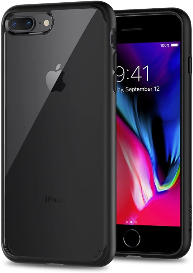 Spigen Ultra Hybrid 2 Works with Apple iPhone 8 Plus Case (2017)/ iPhone 7 Plus Case (2016) - Black