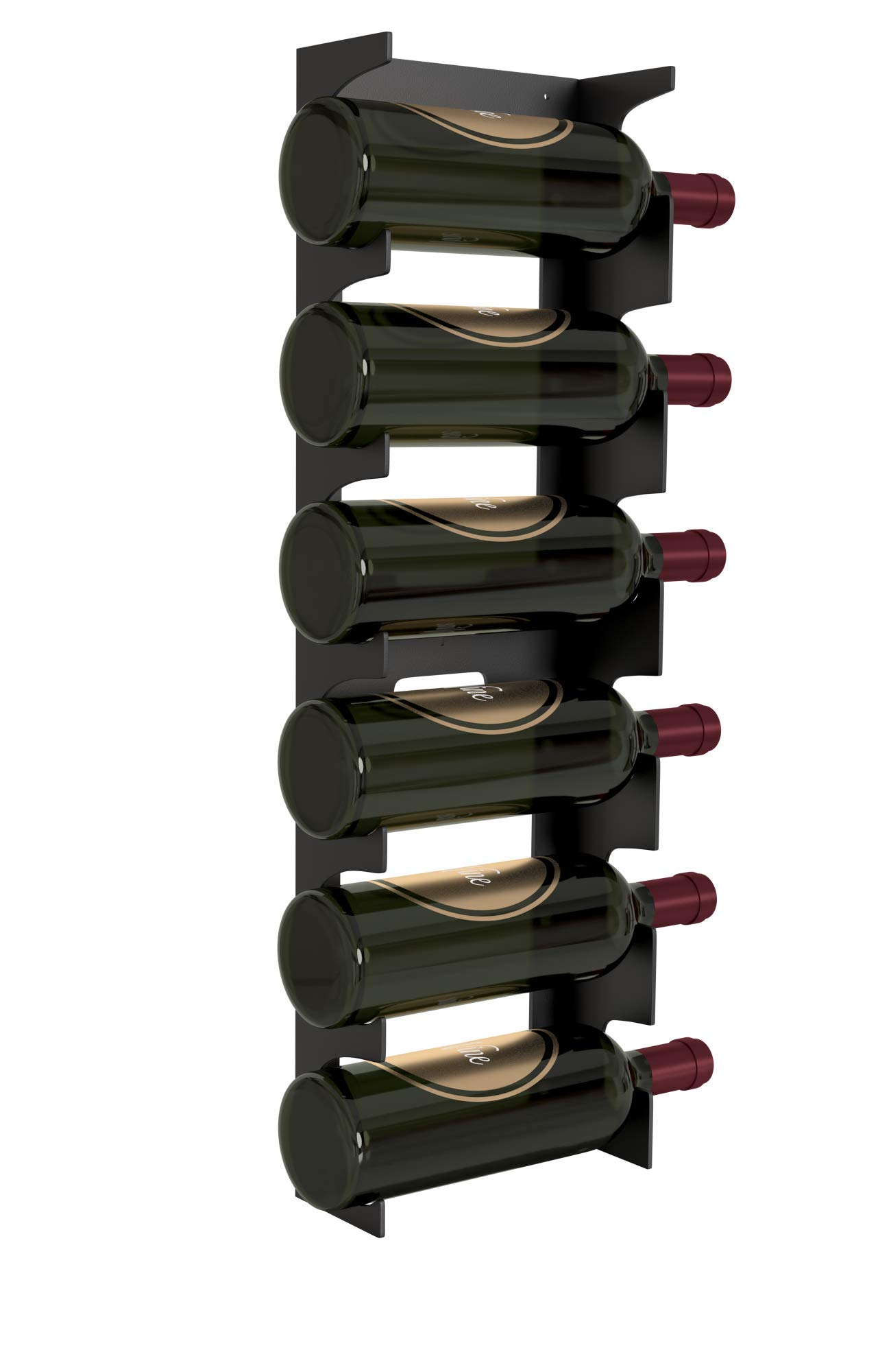 Y-Furniture Design Wall Mount Steel Wine Rack (6 Bottles) (Mat Black) by Y-Furniture Design