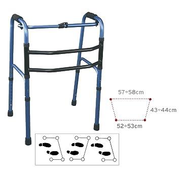 Andador caminador aluminio sin ruedas articulado: Amazon.es ...