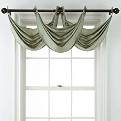 Royal Velvet Plaza Grommet-Top Waterfall Valance, 18