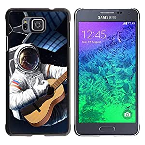Stuss Case / Funda Carcasa protectora - Astronaut Russia Flag Guitar Space Suit Travel - Samsung GALAXY ALPHA G850