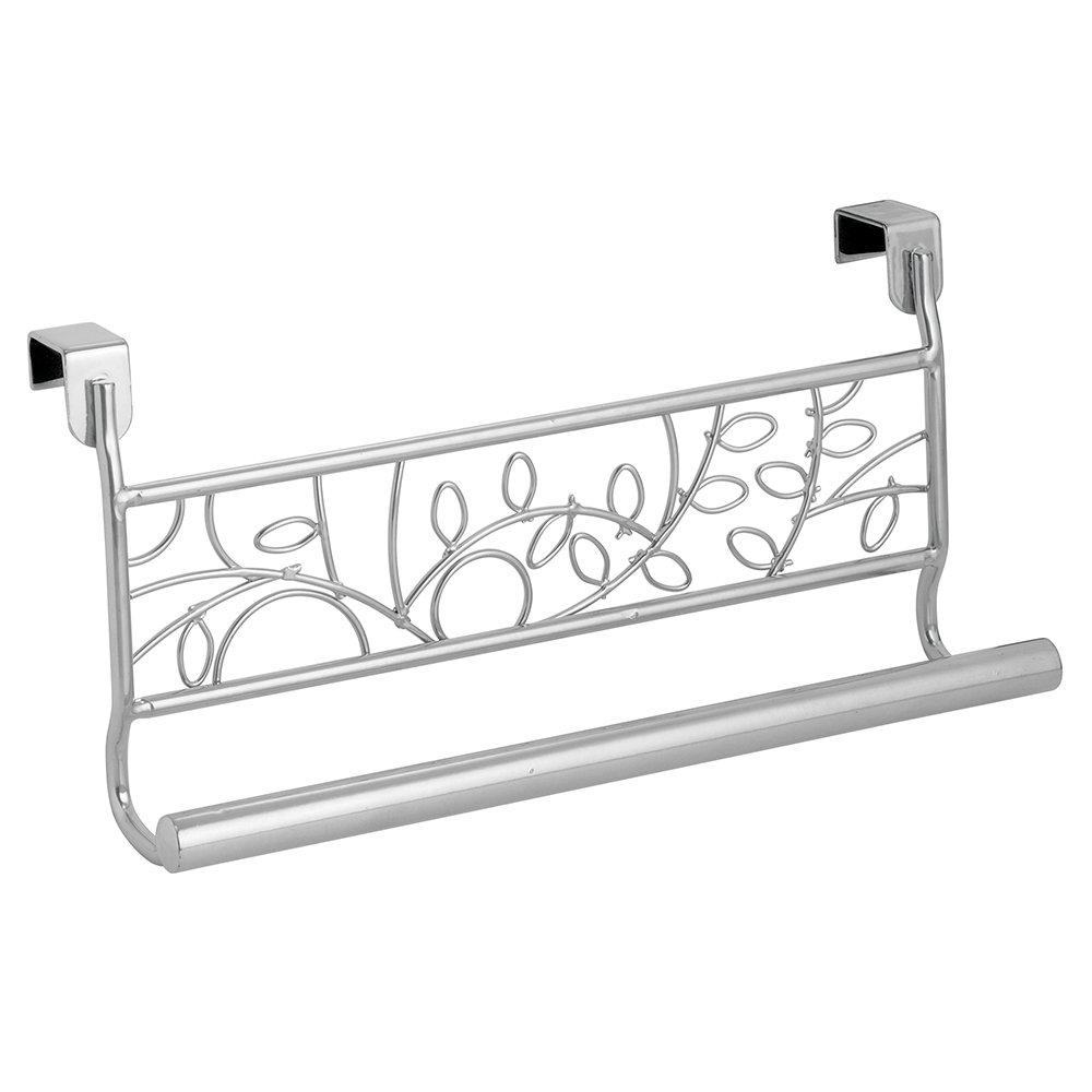 9 InterDesign Twigz Over-the-Cabinet Kitchen Dish Towel Bar Holder Silver 98886