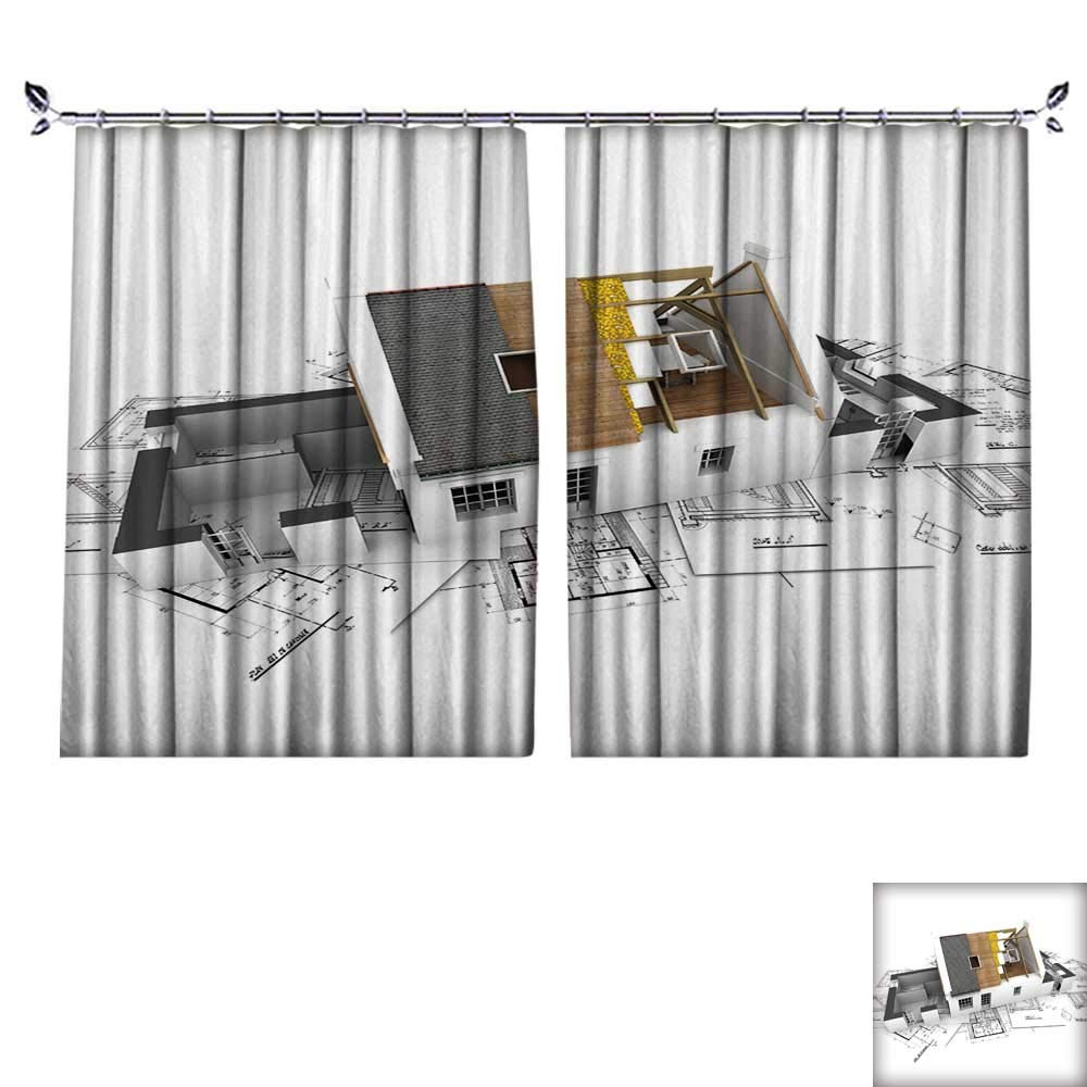 DESPKON Decoration Polyester Material Architecture Model House Showing Building Structure for Children's Room W55 x L72