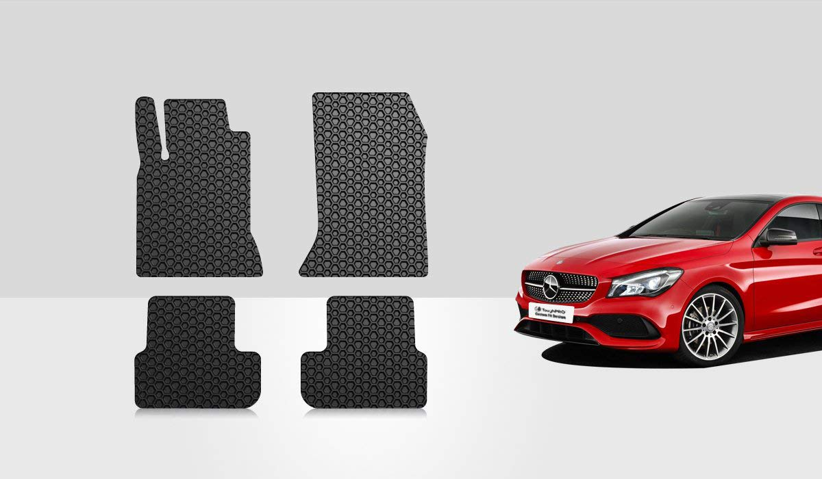 2018 2019 - All Weather Sedan 2020 2016 Made in USA 2017 TOUGHPRO Cargo//Trunk Mat Accessories Compatible with Mercedes-Benz C300 Heavy Duty - 2015 - Black Rubber