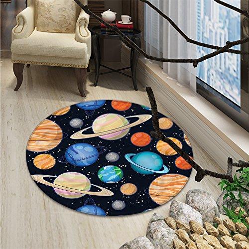 Galaxy print rug Cute Galaxy Space Art Solar System Planets Mars Mercury Uranus Jupiter Venus Kids PrintOriental Floor and Carpets Multi by smallbeefly